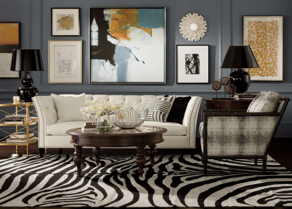 style Mix different styles, a soid colour on the wall pull the space together