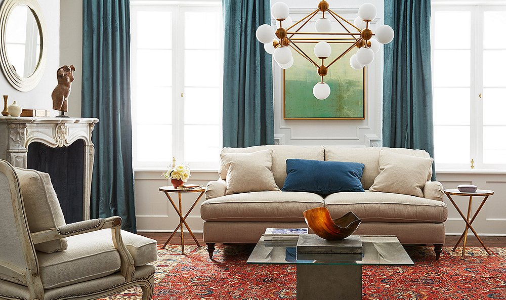 How to mix styles you love and pull it off like a pro for Modern traditional living room ideas