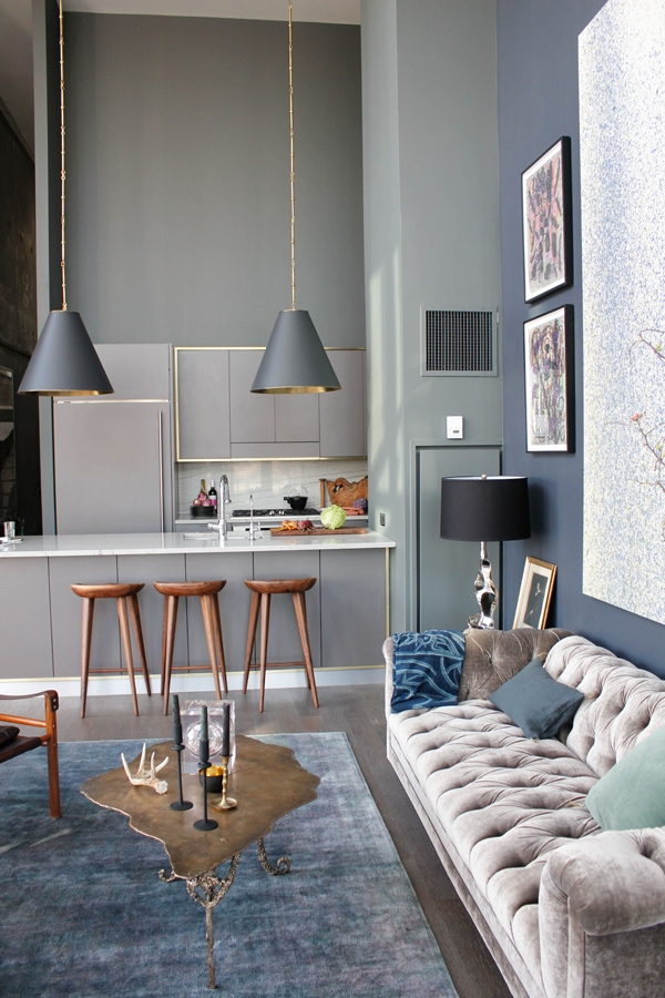paint makeover lving room grey walls and kitchen cupboards